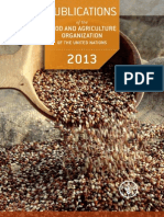 Publications of FAO in 2013