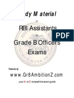 RBI Study Material - Gr8AmbitionZ