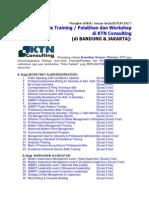 Jenis Training/ Pelatihan dan Workshop_KTN Consulting (di BANDUNG & JAKARTA)