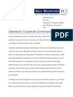 Assignment Summary Corporate Governance