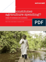 What Constitutes Agriculture Spending