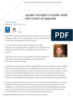 ABC Newspapers _ Coon Rapids Snake Breeder's Battle With City Heads to the Court of Appeals - ABC Newspapers