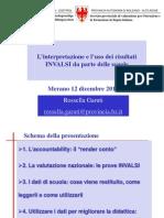 L'interpretazione e l'uso dei risultati INVALSI da parte delle scuole