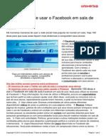 100 Maneiras Usar Facebook Em Sala Aula
