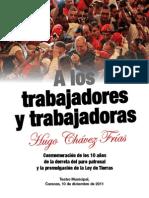 Hugo Chávez - A los trabajadores y trabajadoras