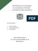 Penelitian Ilmiah Facebook & Twitter