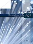 CMT - Memoria Anual de Actividades 2012
