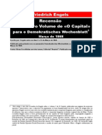 Friedrich Engels - Recensão do 1º Volume de «O Capital»