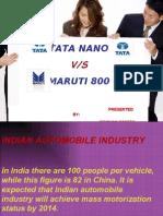 Tata Nano V/S  Maruti 800