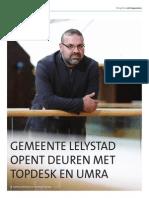 Gemeente Lelystad Opent Deuren Met TOPdesk en UMRA