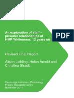 Staff Prisoner Relations Whitemoor