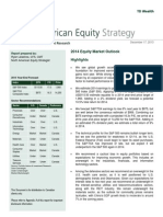 NA Equity Strategy 2014 Outlook