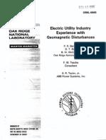 Geomagnetic Disturbances