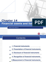 IFRS Chapter 14 Financial Assets and Liabilities