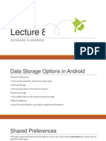 Lecture 8 Database in Android