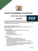 Kirinyaga County Vacancies