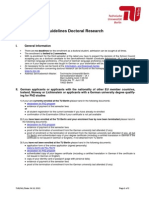 Guideline Doctoral Research
