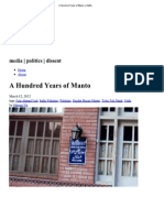 A Hundred Years of Manto « Kafila