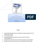 Topic - 8 (Basics) Procurement of Consumable Materials, SAP MM