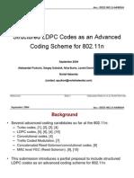 11 04 0885-00-000n Structured Ldpc Codes as Advanced Coding Scheme 802 11n Presentation Slides