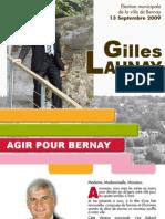 Le programme de la liste Agir pour Bernay conduite par gilles Launay