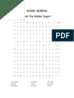 hidden sugar word search