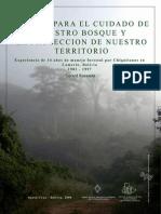 Manejo para el cuidado de nuestro bosque y la protección de nuestro territorio
