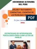 Analisis y Tratamiento Conductual - Cognitivo de Los Problemas de Pareja 2014