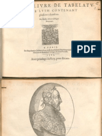 Albert de Rippe Second Livre de Tabelature de Luth 1562