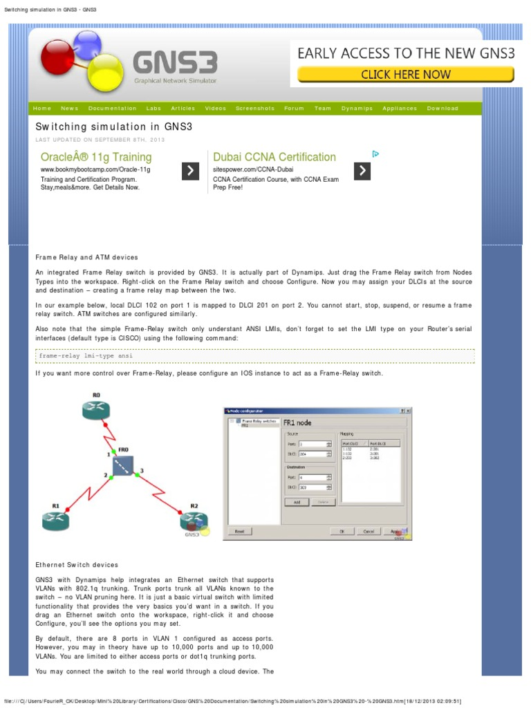 Switching Simulation In Gns3 Network Switch Internet What Is A Simple Relay Standards