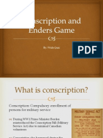 conscription and enders game
