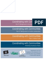 Coordinating with Communities