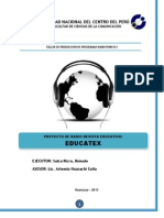 Proyecto de Radio Revista Educativo_educatex