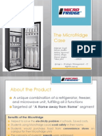 Case Analysis of Micro Fridge