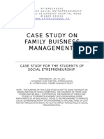 Case Study on Family Business Management