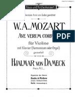 Ave Verum Corpus (Violin & Piano)
