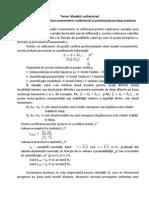 Previziunea Pe Baza Modelului Econometric Unifactorial