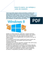 Windows 8 Conoce Lo Nuevo