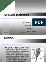 ANESTEZIA PERIDURALA