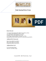 Plans Triple Picture Frame