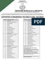 Offerta Formativa 2013 A3 Tecnico Del Suono