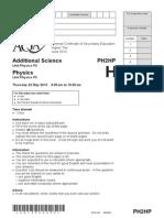 Physics Unit 2 Question Paper