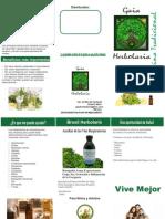 Triptico Gaia Herbolaria Microdosis medicina tradicional