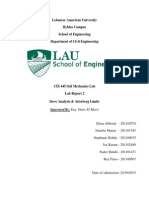 Lab report soil mechanics