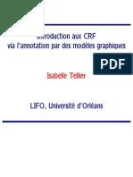 Introduction aux CRF via l'annotation par des modèles graphiques