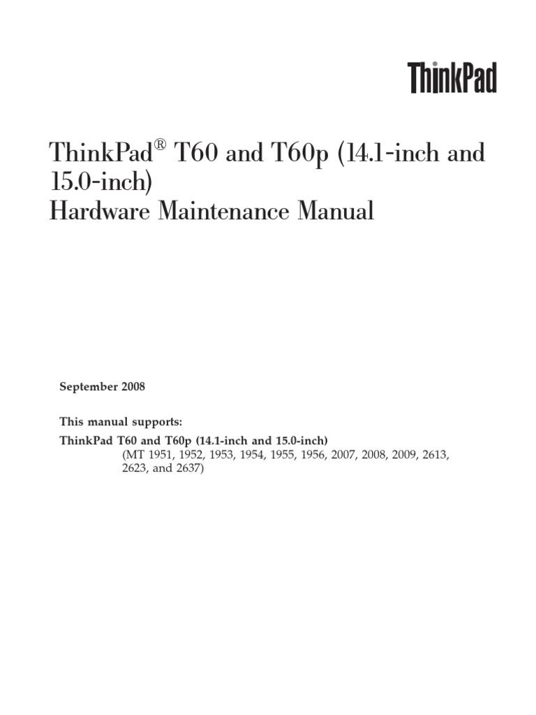 T60p Hardware Service Manual _ 42t7844_04 | Electrostatic Discharge |  Floppy Disk