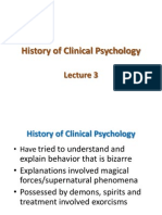 Lecture 3 History of Clinical Psychology