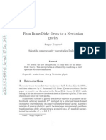 From Brans-Dicke Theory to a Newtonian Gravity