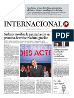 Sarkozy moviliza la campaña con su  promesa de reducir la inmigración