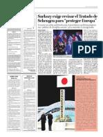 """Sarkozy exige revisar el Tratado de Schengen para """"proteger Europa"""""""